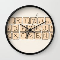 Qwerty Scrabble  Wall Clock