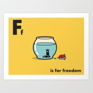 F Is For Freedom - The I… Art Print