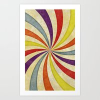 Colorful Twirl Art Print