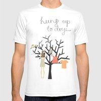 Hung Up To Dry... Mens Fitted Tee White SMALL