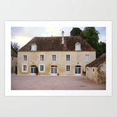 French country house architecture  Art Print