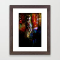 The little girl looks Framed Art Print