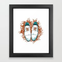 Shoes the last version  Framed Art Print