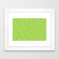 Control Your Game - White on Lime Framed Art Print