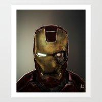 Zombie Iron Man Art Print