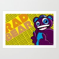 Thee Rad bear  Art Print