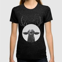The Banyan Deer Womens Fitted Tee Tri-Black SMALL