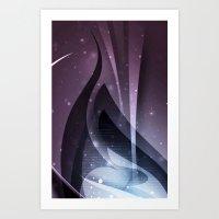 Purple fantasy cover Art Print