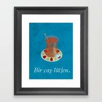 Bir çay Lütfen - Vinta… Framed Art Print