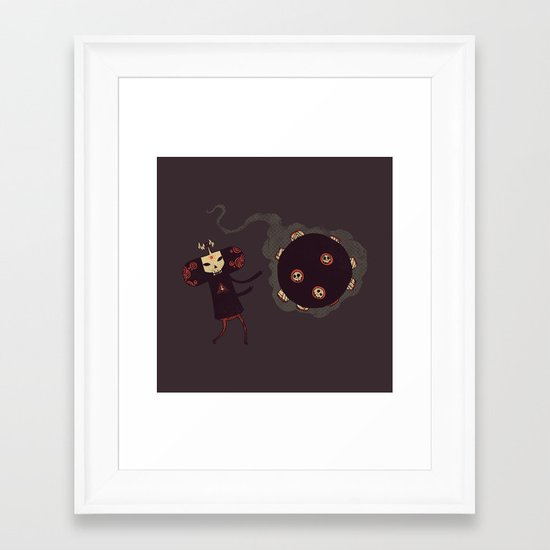 Katamari of the Dead Framed Art Print