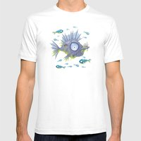 Zombie Fish Mens Fitted Tee White SMALL