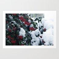 Winter And Snow Art Print