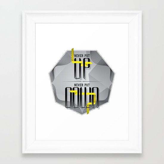 Up Down type Framed Art Print