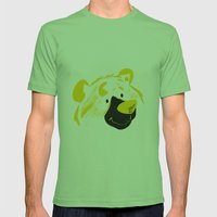 Bear With Me Mens Fitted Tee Grass SMALL