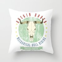 Cowgirls Wanted Throw Pillow