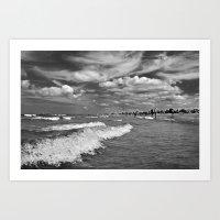 Whispering Cloud Drama over the Baltic Sea Art Print