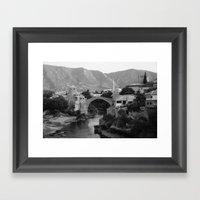 The Old Bridge, Mostar Framed Art Print