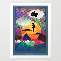 collage Art Prints featuring collage by mark ashkenazi