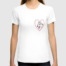 Valentine Womens Fitted Tee White SMALL