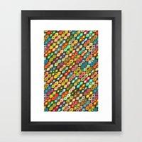 Varsha Ikat Pop Framed Art Print