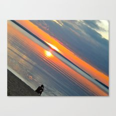 Silver Lake Sunset  Canvas Print