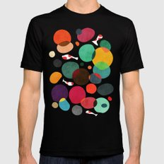 Lotus in koi pond Mens Fitted Tee Black SMALL