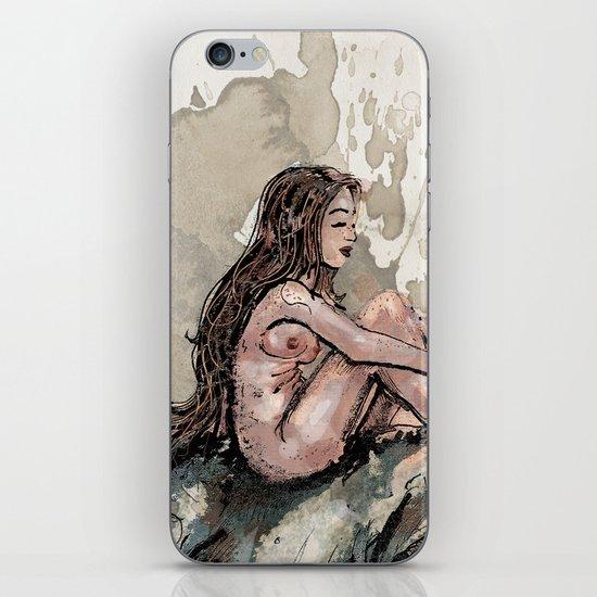 The Girl and the Rhino iPhone & iPod Skin