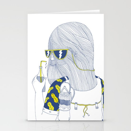 Summer Monster Stationery Card
