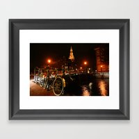 Amsterdam At Night Framed Art Print