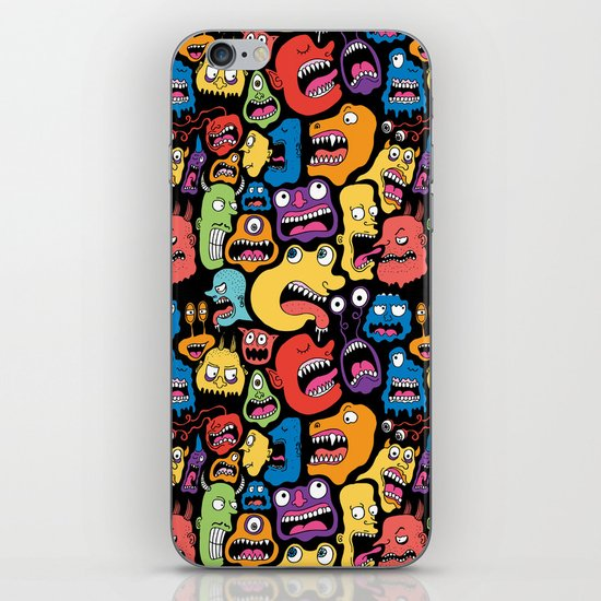 Monster Faces Pattern iPhone & iPod Skin