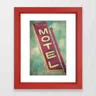 Paradise Motel Sign Framed Art Print
