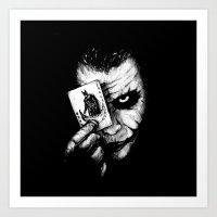 joker Art Prints featuring Joker by NickHarriganArtwork