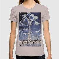 Tower Tourists in Reverse Womens Fitted Tee Cinder SMALL