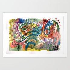 Abstract Watercolour 2016-06-29 Art Print