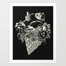 World Ice Cream with Starry Topping Art Print
