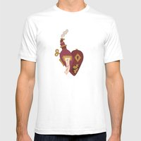 Steampunk Valentines Mens Fitted Tee White SMALL