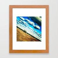 Diagonal Horizon Framed Art Print