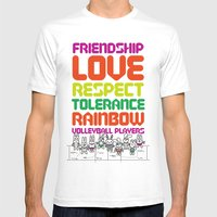 Beach Spike_Friendship Mens Fitted Tee White SMALL