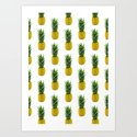 Pineapple Pattern Art Print