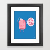 Framed Art Print featuring Lil' Soap by Jessica Fink