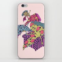 Pizza Eating Pizza - Pink Edition iPhone & iPod Skin