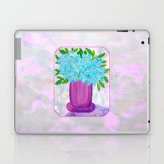 Magenta Vase with Aqua Flowers Laptop & iPad Skin