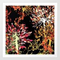 Collage Pattern II Art Print