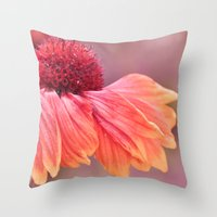 open your heart... Throw Pillow