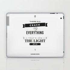 Leonard Cohen, Motivational Quote Laptop & iPad Skin