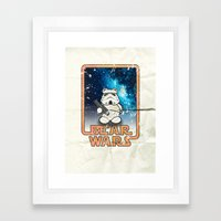 Bear Wars Vintage - Bear Trooper Framed Art Print