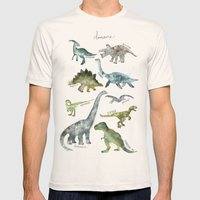 Dinosaurs Mens Fitted Tee Natural SMALL