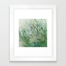 Ferns and Fog Framed Art Print