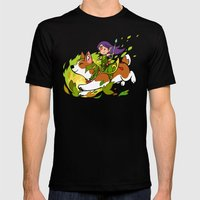 Corgi and Fairy - purple ver Mens Fitted Tee Black SMALL