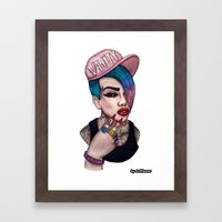 VANITY & JEFFREE STAR Framed Art Print